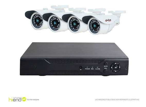 Cctv Dvr Kit Over Hd 8 Canal + 4 Cam. Cab S/disco 677 Hi End