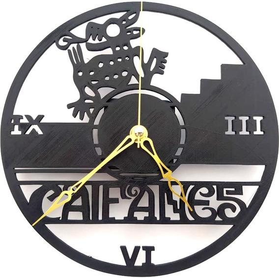 Reloj De Pared Caifanes Analógico 20cm Batería Incluida.
