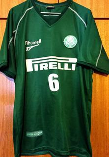 Camisa Palmeiras Usada Em Jogo Brasileiro 2002 Número 6