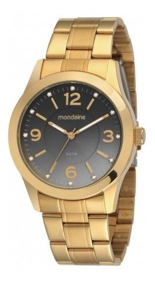 Relógio Mondaine Feminino Analógico Dourado 78182pmfds1