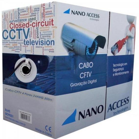 Cabo Cftv Utp 305m 04x24awg Preto Nano Access Com 305 Unidad