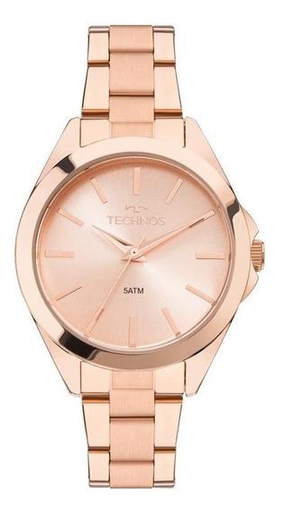 Relógio Technos Feminino Ref: 2035mlm/4j Casual Rosé