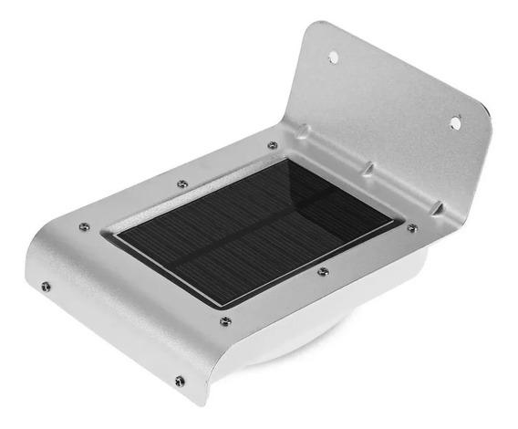 Luminaria Parede Solar 16 Leds Sensor Movimento 36hrs De Luz