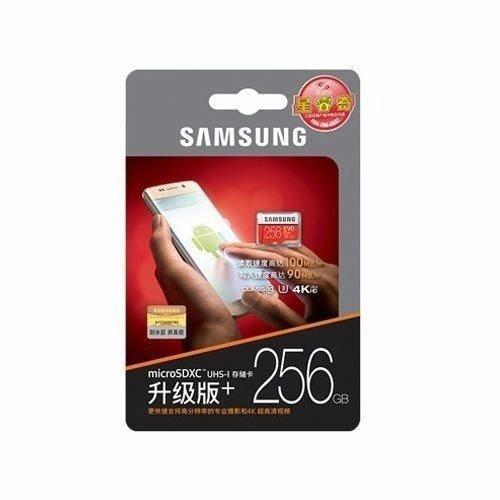 Cartao Samsung Micro Sd Evo Plus 100mb/s 4k 256gb P4 Lacrado