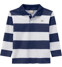 Camisa Polo Infantil Masculino Manga Longa Milon Inverno
