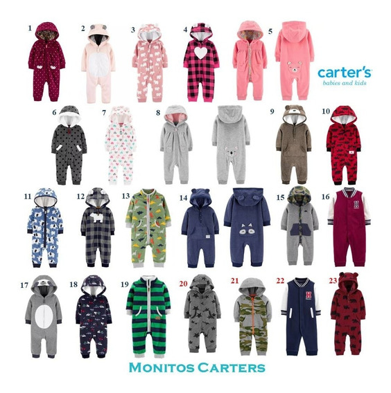 Monitos Carters Jumpsuit Hoodies Sherpa