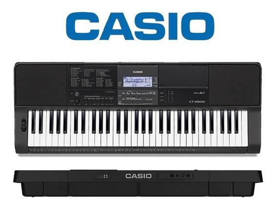Teclado Musical Casio Digital Preto Ct-x800