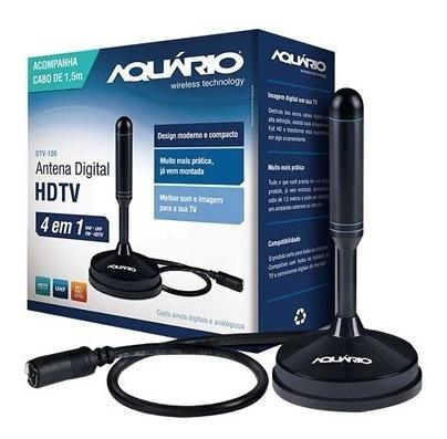 Antena Tv Digital Hdtv Dtv 150 Aquario Cabo 5 Metros