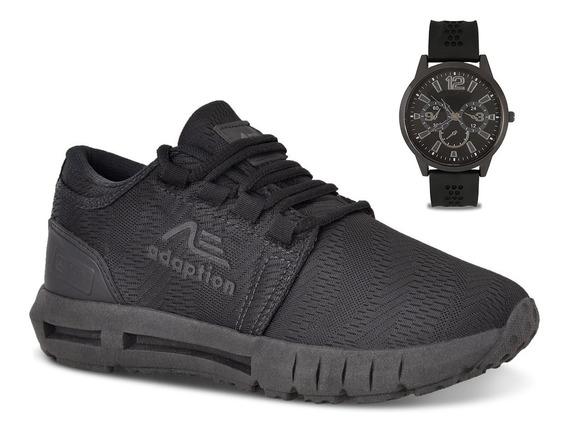 Tênis Masculino Caminhada Super Leve + Relógio Ax900 Oferta