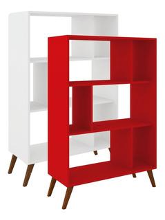 Biblioteca Estanterias Linea Retro Living Comedor Ro Rt3015