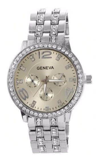 Relógio Feminino Original Com Garantia Geneva 2812 + N F