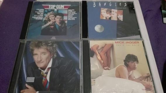 Lote Cds Mick Jagger Rod Stewart Bangles Top Gun Soundtrack