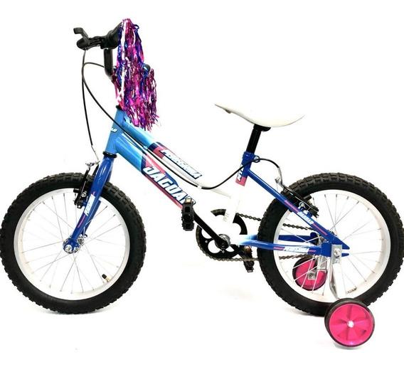 Bicicleta Infantil Peregrina Niña Rodada 16 Ruedas Entrenadoras