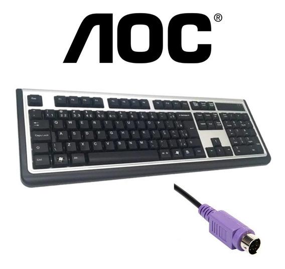 Teclado Aoc Ps2 Com Ç - A Pronta Entrega, Envio Imediato