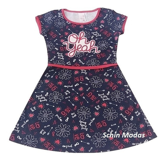 Roupa Infantil Vestido Kit Com 3 Roupa Menina Atacado