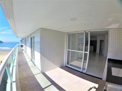 Apartamento Alto Padrão Com 3 Suítes Mais Dependência  À Venda, 141 M² Por R$ 850.000 - Vila Guilhermina - Praia Grande/sp - Ap3557