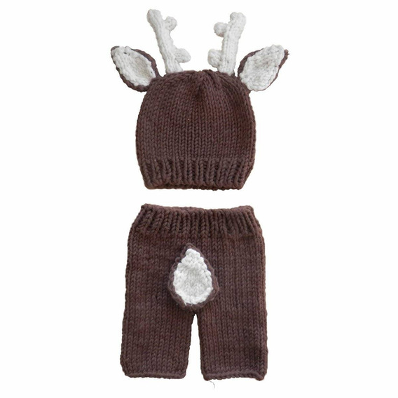 Jastore Newborn Baby Girls Boys Deer Crochet Knit Costume Ph