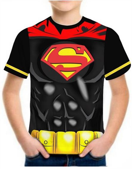 Camiseta Super Herois Infantil Roupas Blusa Camisa