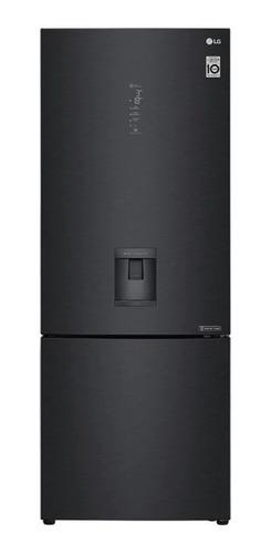 Imagen 1 de 4 de Heladera inverter no frost LG LB45SPT matte black steel con freezer 440L 220V