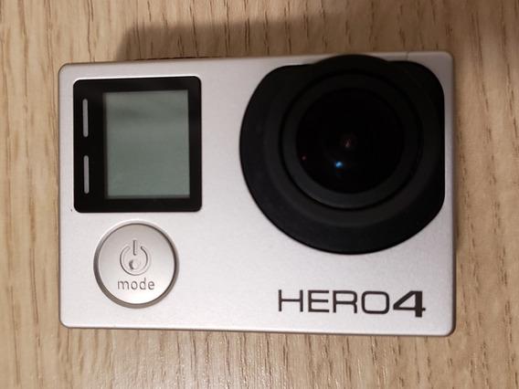 Câmera Go Pro Hero 4 Silver 4k Com Baterias Extras E Carreg.