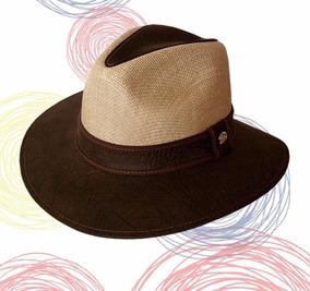 35f91607b0 Sombrero Vaquero En Cuero Tula Forrado Nuevo Hombre Mujer ...
