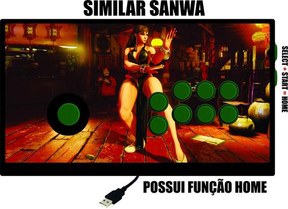 Controle Arcade Similar Sanwa Ps3/ Pc Com Fio (placa De Ps3)