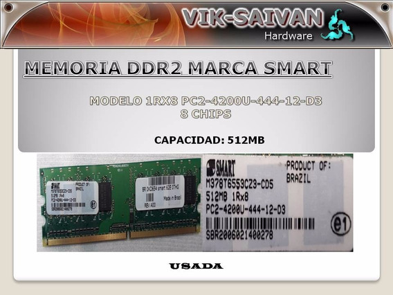 Memoria Ddr2 Smart 512mb Pc2-4200 533mhz 8 Chips 6