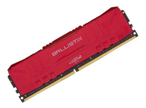 Imagem 1 de 1 de Memória Crucial Ballistix 8gb 3000mhz Ddr4 Vermelha