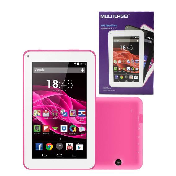 Tablet 7 Multilaser M7s Quad Core 8gb Wifi - Rosa (nb186)