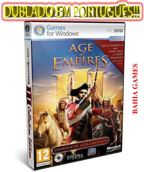 Age Of Empires 3 + Expansão Dublado Em Português!!! Veja!!!