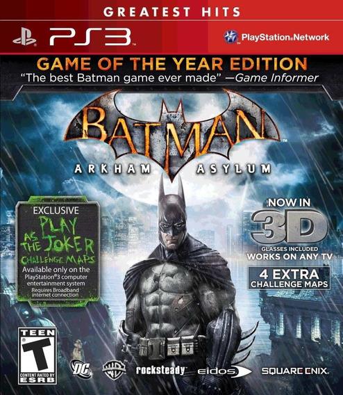 Batman Arkham Asylum Goty Ps3 Completo Original Mídia Física