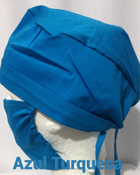 Gorro Quirúrgico Con Cubreboca Colores Sólidos