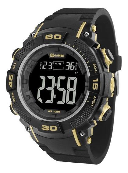 Relógio X-games Xmppd561 Pxpx Masculino Preto/dourado