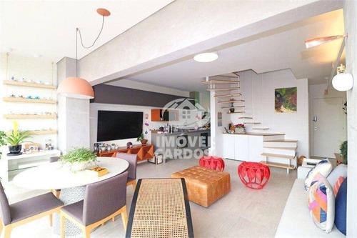 Apartamento Duplex Com 1 Dormitório À Venda, 72 M² Por R$ 1.595.000 - Pinheiros - São Paulo/sp - Ad0007
