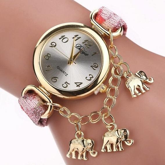 Lindo Relógio Pingente Elefante Super Promoção