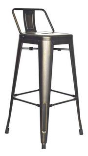 Butaco Para Barra Metalico Con Espaldar Retro