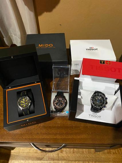 Colección De Relojes Suizos Tissot-swatch-mido