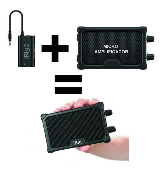 Ik Multimidia Irig 2 + Mini Amplificador = Irig Nano Amp
