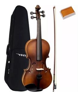 Violino Vogga 4/4 Envelhecido Fosco + Arco Crina +case +breu