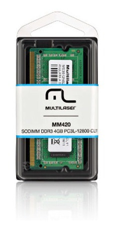 Memória Notebook Multilaser Sodimm Ddr3 4gb Pc3l-12800 - Mm4