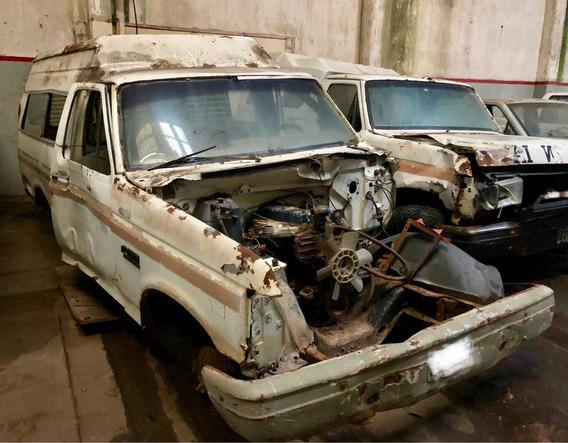 Ford F100 1990 Diesel Perkins Lista Para Transferir Chocada