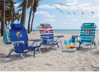 2 Silla Backpack Playa Tommy Bahama Plegable