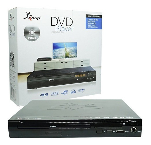 Dvd Player C/ Entrada Usb Pendrive Mp3 Funcao Karoke (kp-d10