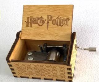 Caja Musical Harry Potter Envio Gratis Madera Negro Azul