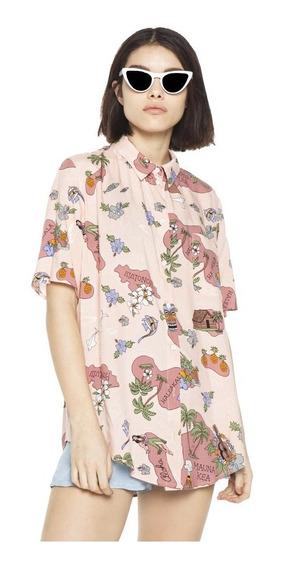 Camisa Hawai Casual Mujer Complot