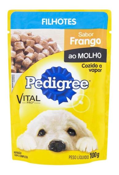 Ração Pedigree Cães Filhotes Sabor Frango Sachê 100g