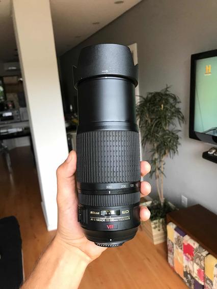 Lente Nikon Vr Af-s Nikkor 70-300mm F/4.5-5.6 Ed