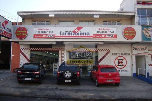 Salão  Comercial Para Locação, Jardim Santa Izabel, Hortolândia. - Sl0242