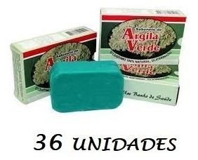 36 Unidades Sabonete Argila Verde #frete Grátis