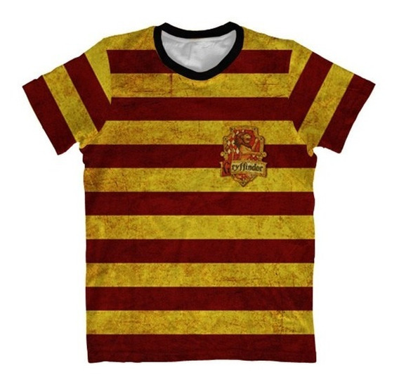 Camisa Infantil Harry Potter - Camiseta Grifinoria